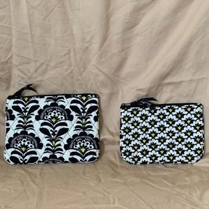Vera Bradley Small Cosmetic Bags (Set of 2)
